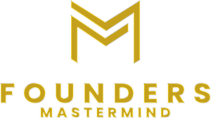 Founders Mastermind Vertical Logo Gold